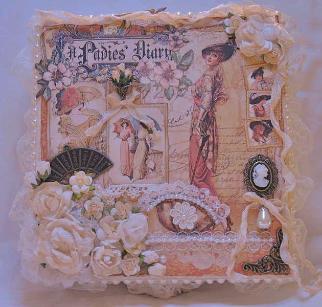 Martica's SS Swap Ladies Diary Keepsake Box