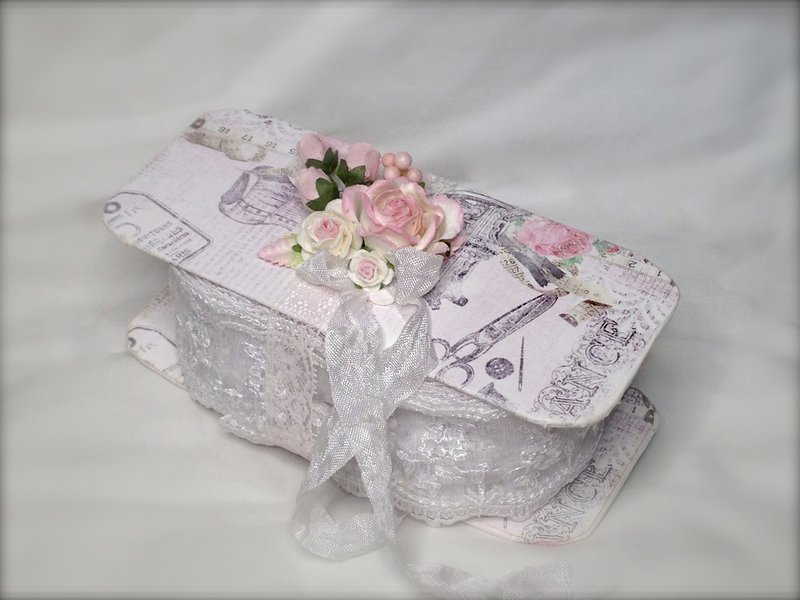 Shabby Chic Lace Spool Holder