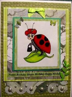 Lady Bug birthday card
