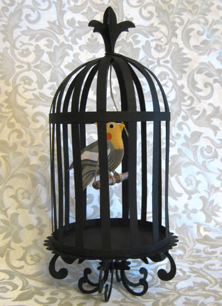 3-D Bird in a Cage
