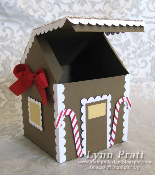 Gingerbread House Box & Card