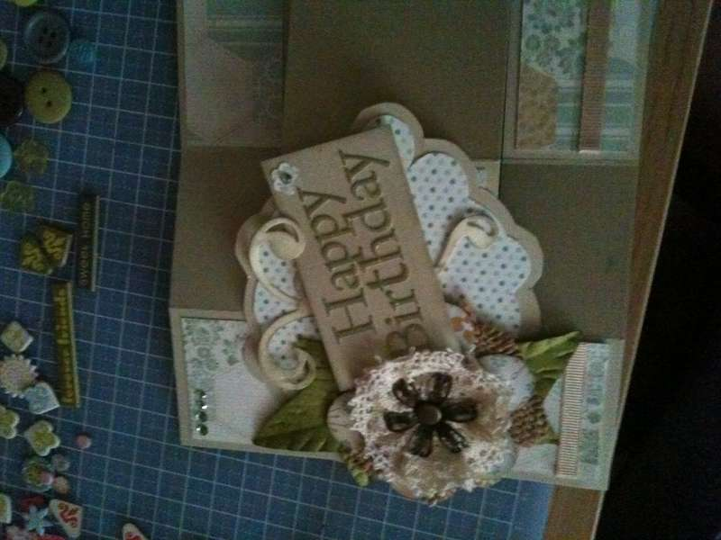 tri folding birthday card