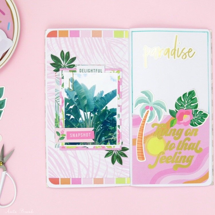 Paradise travellers notebook spread