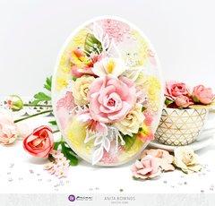 Oval floral decor *prima marketing DT*