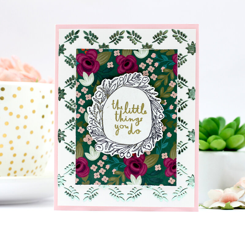 The little things you do card