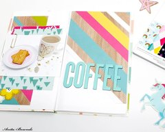 Coffee- travelers notebook spread