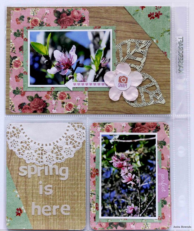 spring is here  - DT Captured Moments for Kaisercraft