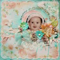 Beautiful Baby Girl~~ScrapThat! August Kit~~