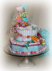 Sweet 16 Birthday Cake~~Petaloo~~