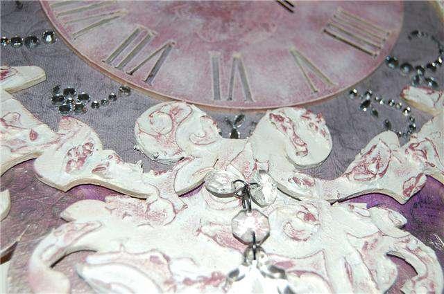 Close up of clock - texture paste