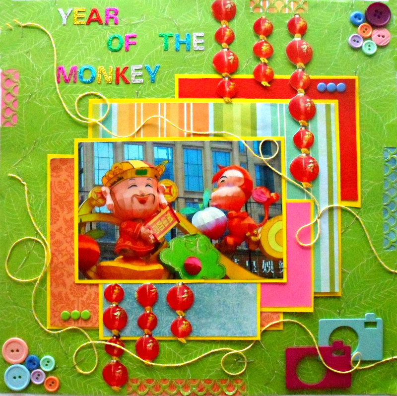 Year of the Monkey-for NSD Rainbow Challenge