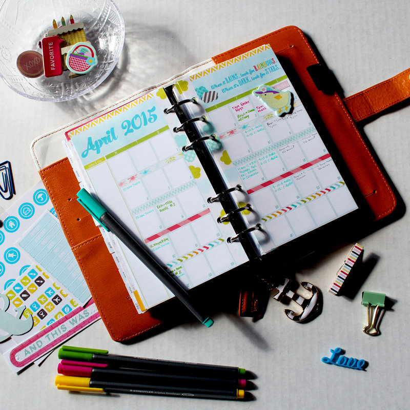 April Monthly Planner Page - in my Color Crush Planner