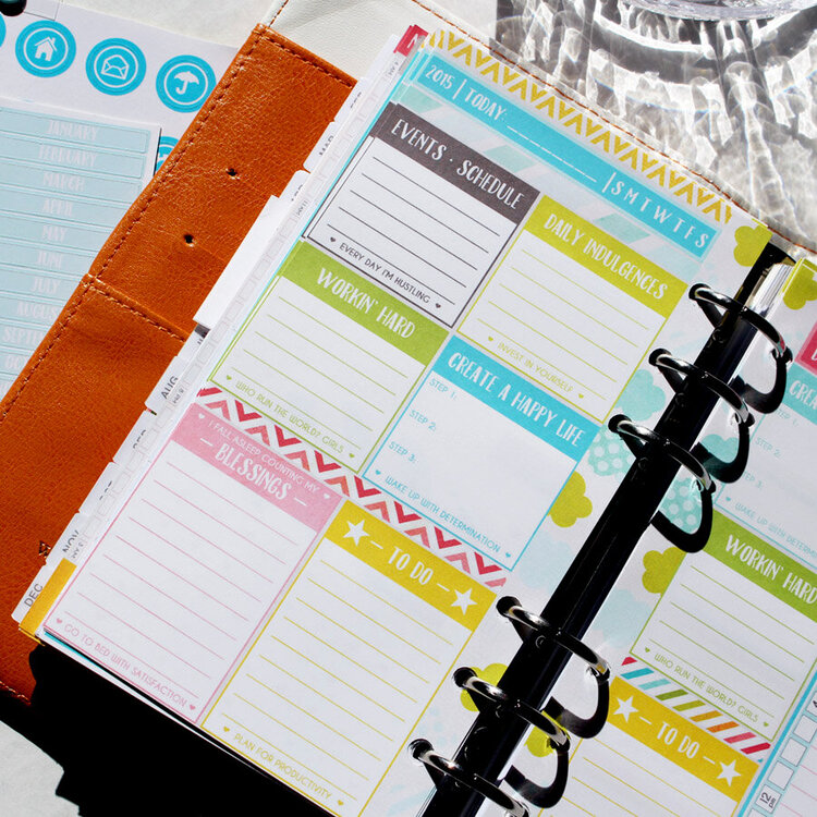 April Daily Planner Page - in my color crush planner