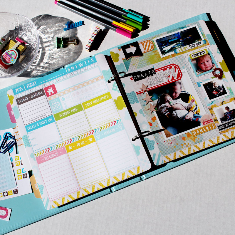 April Daily Planner page - in my Project Life planner album