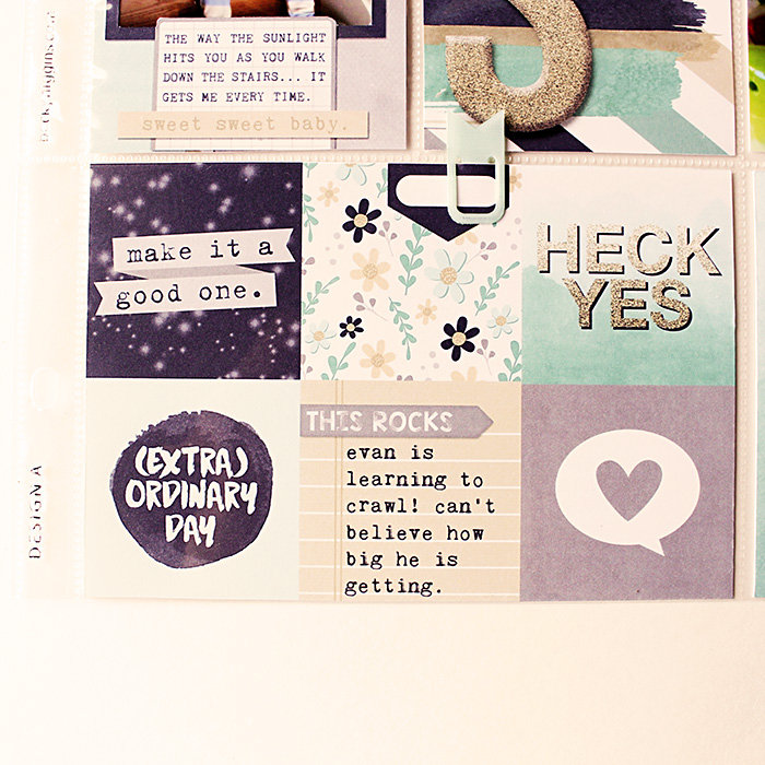Project Life - Week 1 - RIGHT - DETAIL 03 - Using Pocket Life January - Hybrid Page