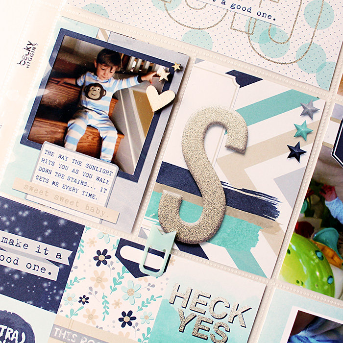 Project Life - Week 1 - RIGHT - DETAIL 02 - Using Pocket Life January - Hybrid Page
