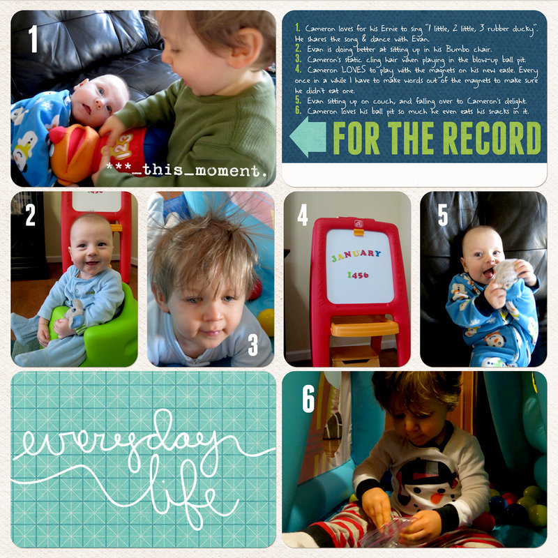 Project Life 2014 (Week 3, Page 2): A Week at Home