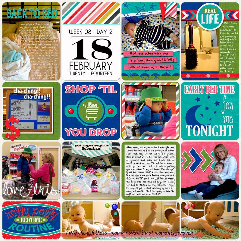 Project Life 2014 (Week 8, Day 2): Shop 'Til You Drop