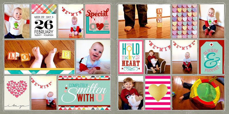 Project Life 2014 (Week 9, Day 3): Valentine's Photos