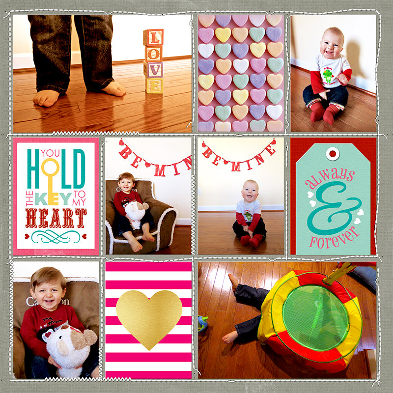 Project Life 2014 (Week 9, Day 3 - RIGHT): Valentine's Photos