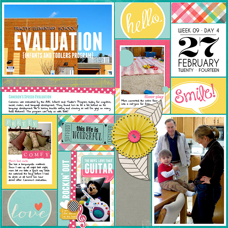 Project Life 2014 (Week 9, Day 4): Speech Evaluation