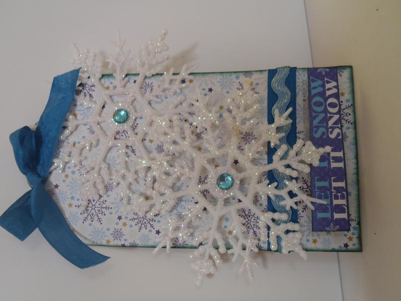 Let it Snow Holiday Tag