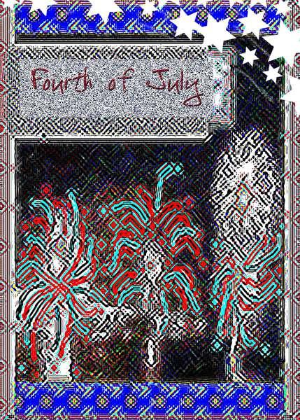 """""""Funky Doodled July 4"""""""