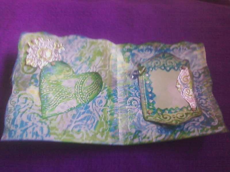 Tie Dye Batik Hearts & Frame Card