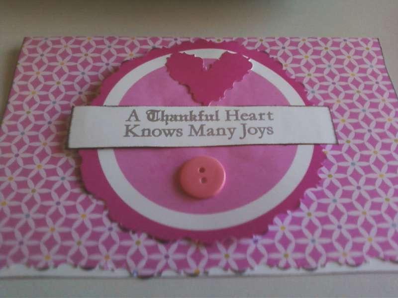 Thankful Heart card