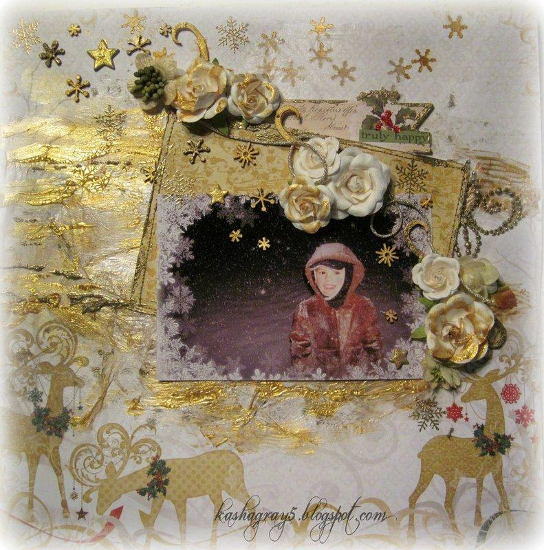 TRULY HAPPY ~Scraps of Elegance~ Mistletoe Memories December 2013