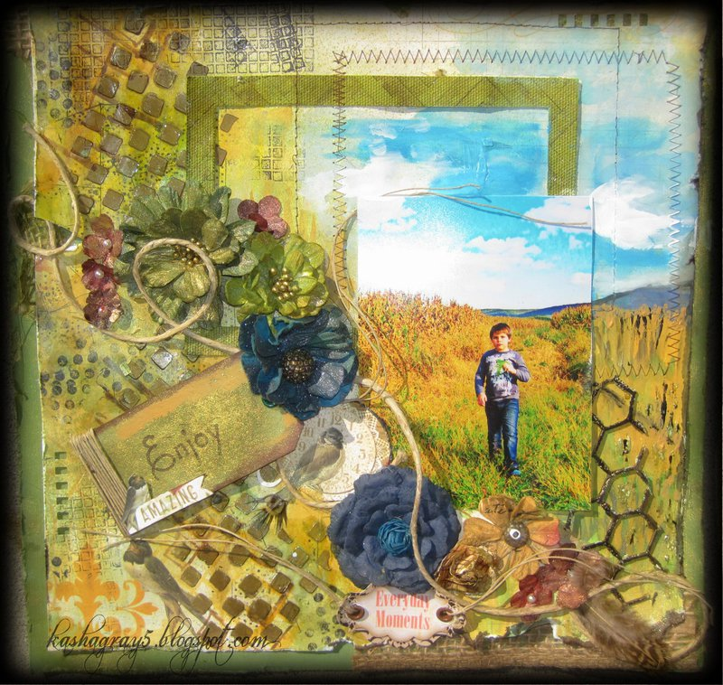 ENJOY AMAZING EVERYDAY MOMENTS ~Scraps of Elegance~ October Kit Rue des Rosiers