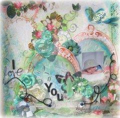 I LOVE YOU ~Scraps of Elegance~ Rue des Rosiers October Kit