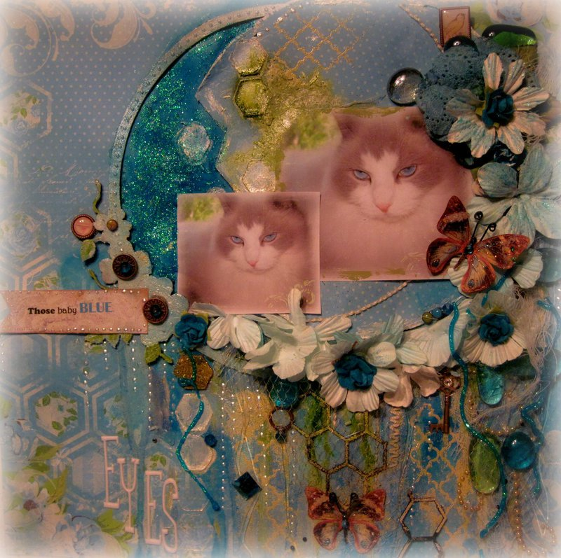 "THOSE BABY BLUE EYES ~Scraps of Elegance~ July Kit - ""Home Sweet Home"" Design Team Project"
