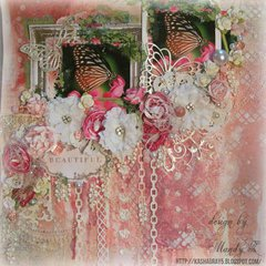 BEAUTIFUL BUTTERFLY ~Scraps of Elegance~ Home Sweet Home