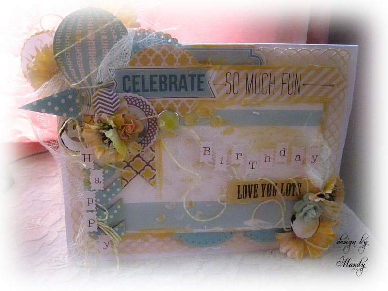 "HAPPY BIRTHDAY ""Scraps of Elegance"" DT Project Whimsy Kit June"