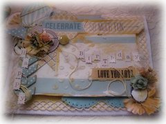 HAPPY BIRTHDAY CARD ~Scraps of Elegance~ DT Project June Kit