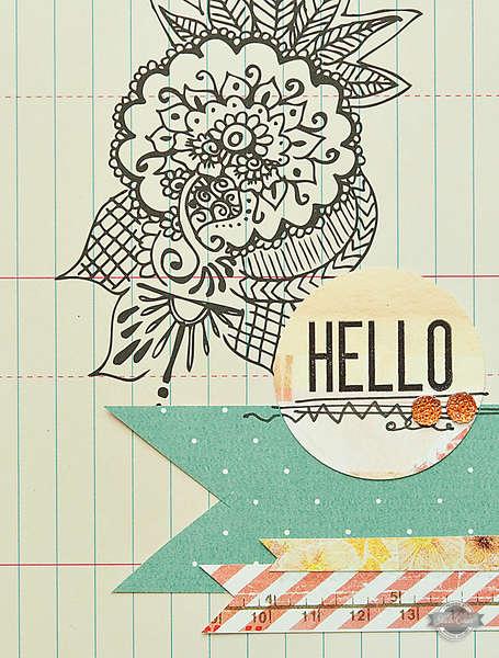 Hello Card {Studio Calico June Kits}