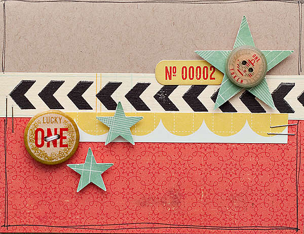 Stars Card {Studio Calico March Kit}