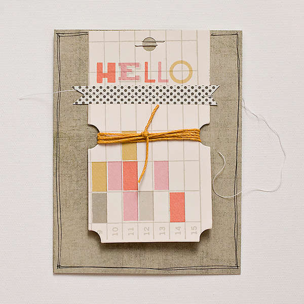 Hello Card {Studio Calico May Kit}