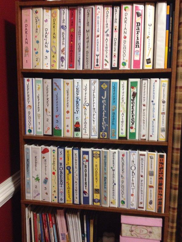 My children's scrapbooks