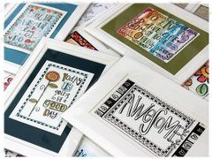 Art Play paintables - Matted & Framed