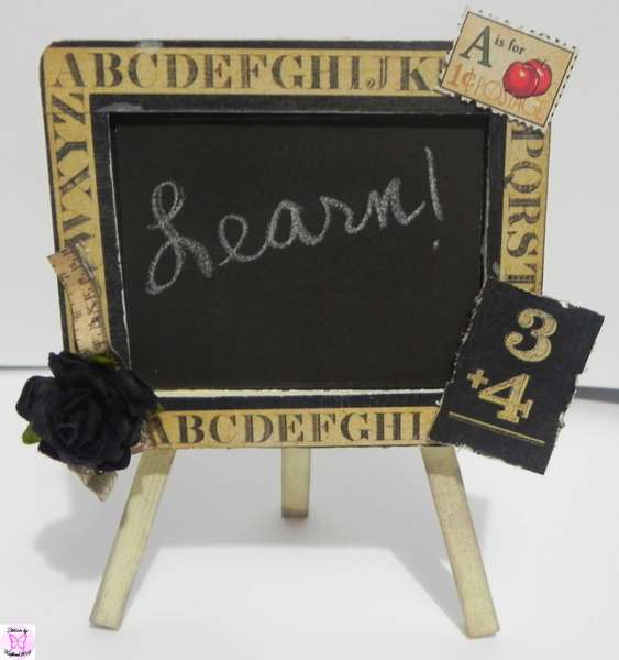 Scraps of Color DT Project: Altered Easel Chalkboard