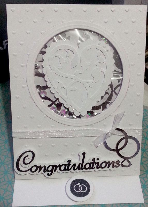 Congratulations Wedding Easel/Shaker Card