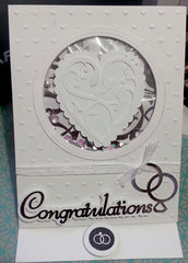 Congratulations Wedding Easel/Shaker Card