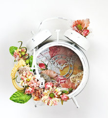 Assemblage Clock *Flying Unicorn CT*