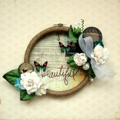 Beautiful Embroidery Hoop *Marion Smith Designs DT*