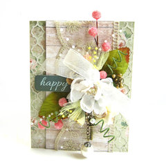 Happy Card *Scrapbook Adhesives by 3L DT*