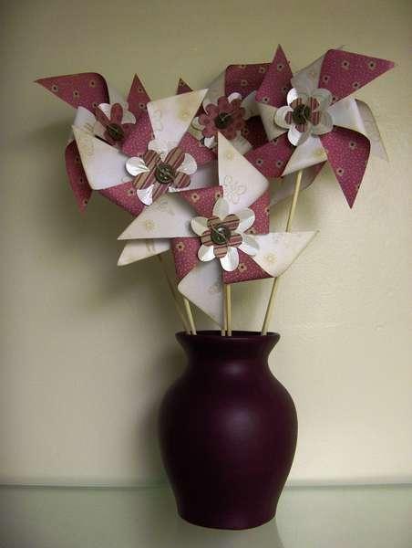 Pinwheel Paper Flower