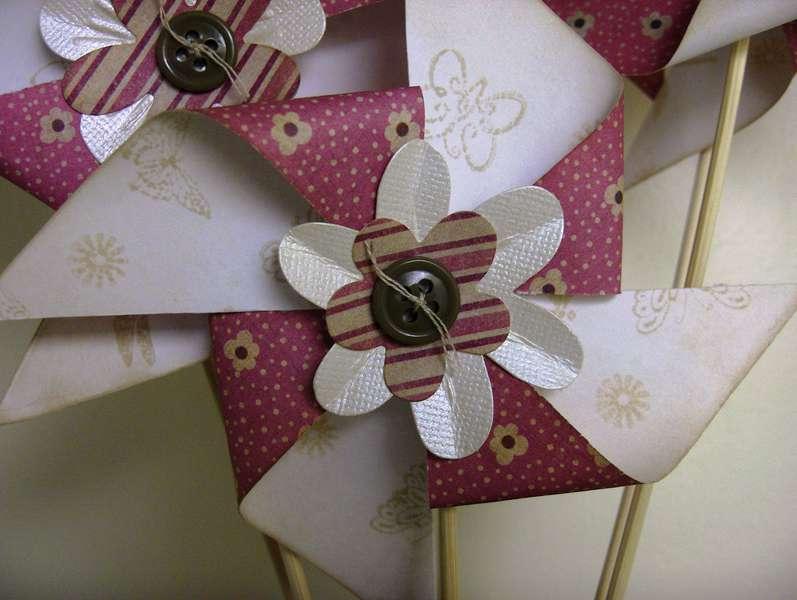 Pinwheel Paper Flower Close-Up