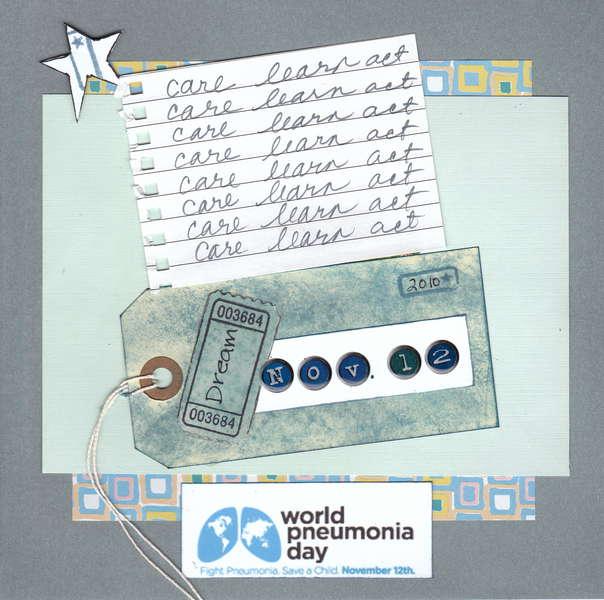 World Pneumonia Day ~ Blue Challenge
